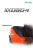 Midiexcavadora 8195 kg KUBOTA KX080-4