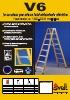 Escalera de fibra de vidrio de doble subida V6 para instaladores