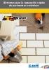 Sistemas para la reparación rápida de pavimentos cerámicos