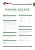 Nutrientes Tiamina Dosage