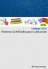 Catálogo de patrones certificados para calibración
