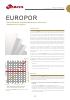 EUROPOR, Placas filtrantes en profundidad para la industria alimentaria y enológica