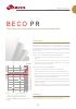Beco PR, Placa filtrante en profundidad para la industria farmaceutica