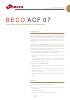 Beco ACF 07, Placa filtrante en profundidad con carbón activo