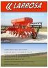 Sembradora mecánica de siembra directa de reja