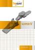 Catálogo Trasteel para Super V : dientes de excavadora y de cargadora