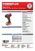 POWDP2010 Taladro atornillador de impacto 20V