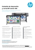 Solución de impresión y corte HP L335