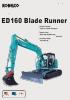 Miniexcavadoras ED160-3 Blade Runner de Kobelco