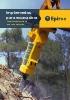 Implementos hidráulicos Epiroc