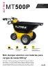 Minidúmper eléctrico con baterías para cargas de hasta 500 kg MT500P Alitrak
