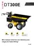 Minidúmper eléctrico con baterías para cargas de hasta 300 kg DT300E Alitrak