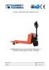 Transpaleta elevación manual y traslación eléctrica 1500kg