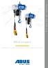 Polipastos eléctricos de cadena desde 25 kg a 4 t.