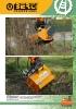 Desbrozadoras - Trituradoras hidráulicas Berti - en punta de retro - serie MINI/SB