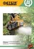 Trituradoras forestales hidráulicas Berti - en punta de retro - serie EFX/SB