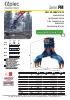 Pinzas de escolleras, manipulación y demolición - en punta de retro - serie PM - rotación 360º