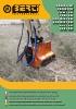 Trituradoras forestales hidráulicas Berti - en punta de retro - series PARK/FM - PARK/FX - TBM/SB - TFX/SB - ECF MD/SB - ECX MD/SB - ECF/SB - EFX/SB