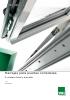 Corredera lineal y elevable PVC
