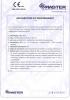 Dinamika -Bisagra para puertas - Declaración de prestaciones CE – Ref. ITB - 8014