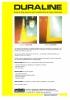 Rayas de larga duración para la señalización de suelos industriales, Duraline