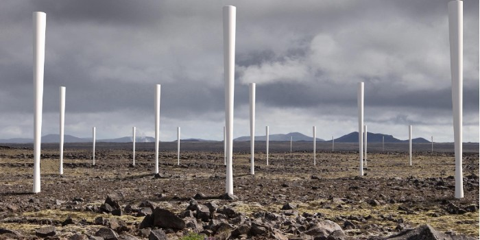 Molinos de viento que generan electricidad sin palas