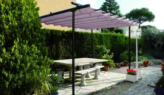 patio v es un toldo plano con dos porteras ideal para cubrir espacios de grandes superficies en jardines u otros la lona que con su movimiento crea unas