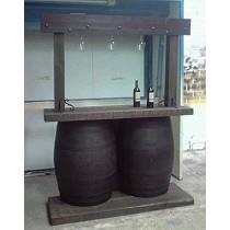 Barra-mostrador de barricas