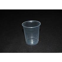 Vasos de plástico transparentes