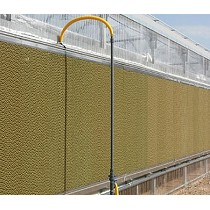 Enfriamiento evaporativo para invernaderos