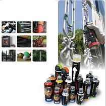Pintura en aerosol para uso industrial