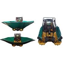Plataforma recolectora para vibradores de olivos
