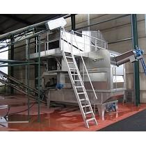 Sistema compacto de limpieza y lavado de aceitunas
