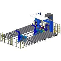 Solución robotizada para el corte y soldadura de postes de alumbrado