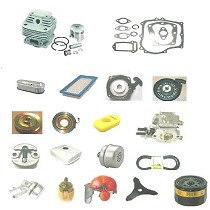 Spare parts and accessories for machinery of gardening