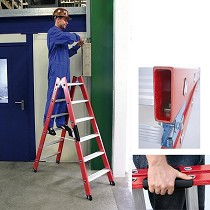 Escaleras de tijera de fibra de vidrio