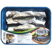 Filetes de sardina fresca