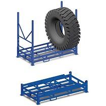 Jaulas y contenedores para neumáticos