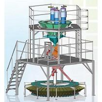 Sistema gravimétrico central de alimentación y mezcla