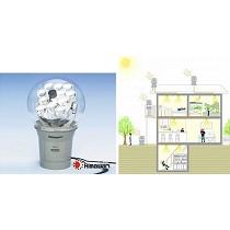 Sistema de captación y transporte de luz natural