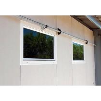 Entradas de aire de PVC y cristal
