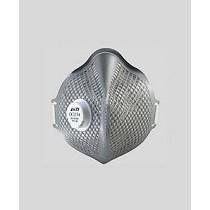 Respirador con cubierta plana y válvula