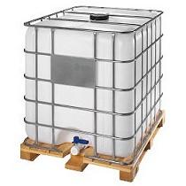 Contenedor 1.000 litros con palet de madera