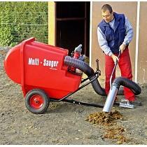 Aspiradores a motor sobre remolque con ruedas para la recogida de excrementos caninos y otros desechos en parques y jardines p�blicos