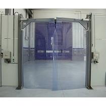 Puertas batientes flexibles de PVC