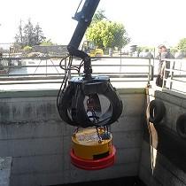 Electroimán circular hidráulico