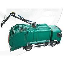 Grúas sobre compactador