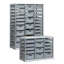 Estanterías metálicas para cajas Zeus y Athena