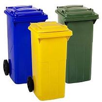 Contenedores basureros con tapa y ruedas