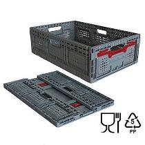 Cajas plásticas plegables ventiladas